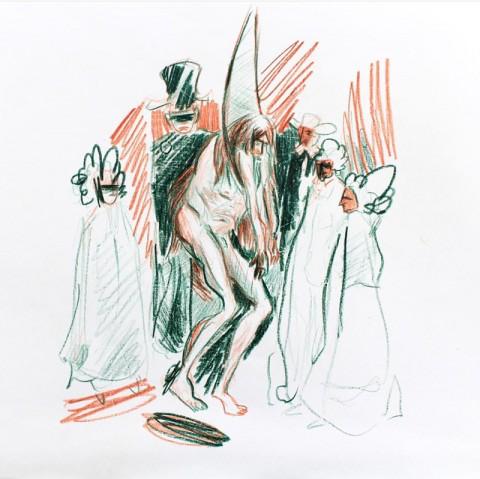Kévin Lebrun (4ème année Art à l'ESAD Pyrénées site de Tarbes). D'après Fatras de Jacques Prévert, éd. Gallimard, NRF, 1966. À partir du collage
